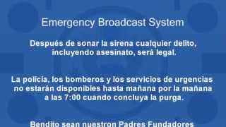 The Purge Emergency Broadcast System ESPAÑOL (Anuncio del inicio de la purga)