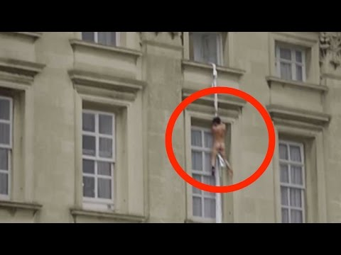NAKED Man Caught On Camera Climbing Out Of Buckingham Palace Window!