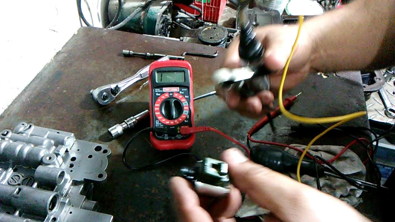 Como verificar solenoides de transmision automatica