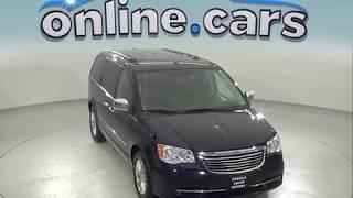 oA97462ET 2015 Chrysler Town & Country Passenger Mini Van Blue Test Drive, Review, For Sale