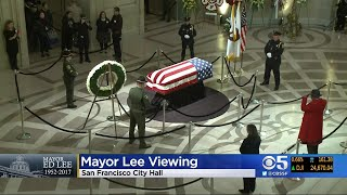 Mourners Pay Respects To San Francisco Mayor Ed Lee