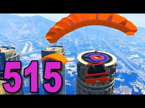 Grand Theft Auto 5 Multiplayer - Part 515 - PARACHUTING CAR DARTS