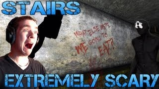 Stairs - EXTREMELY SCARY - Indie Horror Game Playthrough/Commenary/Facecam Reaction