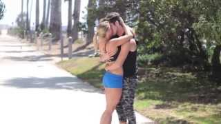Kissing Prank (GONE SEXUAL) Homeless guy kiss - social experiment - Pranks 2015