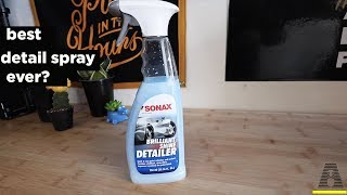 IS THIS THE BEST DETAIL SPRAY EVER? SONAX BRILLIANT SHINE DETAILER REVIEW