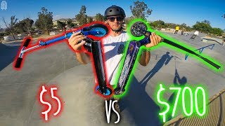 $5 DOLLAR WALMART SCOOTER VS $700 DOLLAR PRO SCOOTER