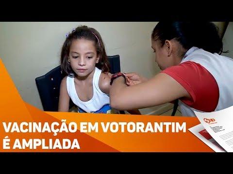 Vacinação em Votorantim é ampliada - TV SOROCABA/SBT