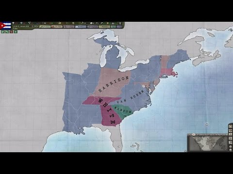 The 1836 US Presidential Election Timelapse