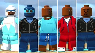 All Frozone (Lucius Best) Costumes in LEGO The Incredibles