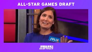 All-Star Games: Live Draft Recap | JEOPARDY!