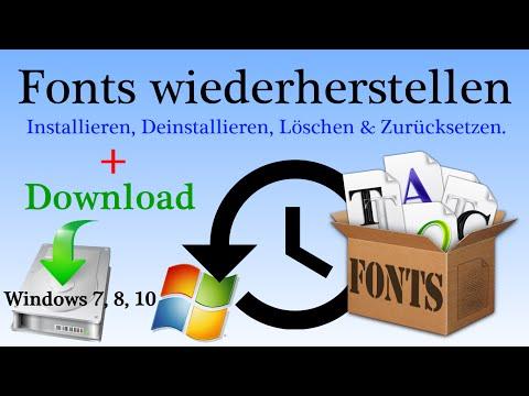 [HOW-TO] Standard Fonts Wiederherstellen / Schriftarten Zurücksetzen + Download - Tutorial [HD]