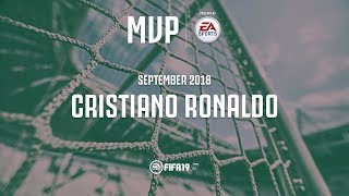 Cristiano Ronaldo wins the Juventus September MVP award with EA Sports!