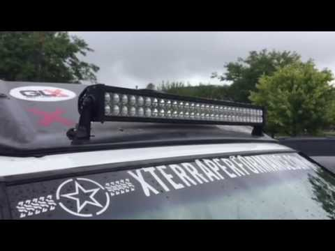 Led Lightbar On Nissan Xterra Youtube
