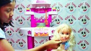 Barbie Kitchen Playset With Accessories By Klein-toys - Barbie Doll Collection