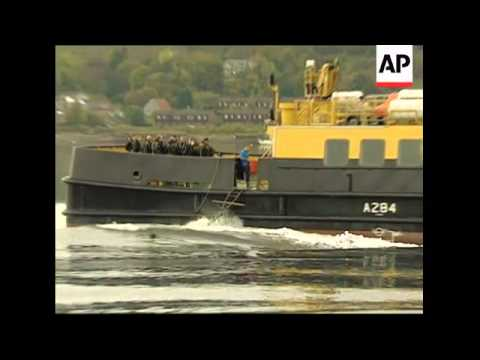 William in manoeuvres with marines at homebase of Trident subs