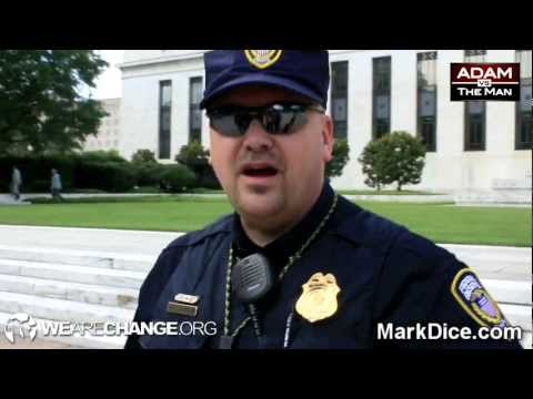 """FED Police Confronted: """"Step Back On Public Property"""""""