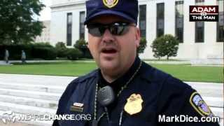 "FED Police Confronted: ""Step Back On Public Property"""