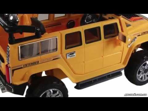 Детский электромобиль Джип JJ 255 EBR-6 Hummer, жёлтый - дисней.com.ua