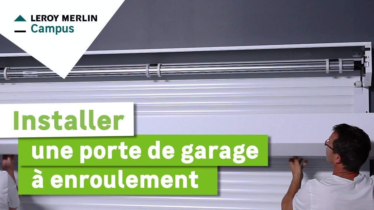 comment installer une porte de garage enroulement leroy merlin youtube. Black Bedroom Furniture Sets. Home Design Ideas