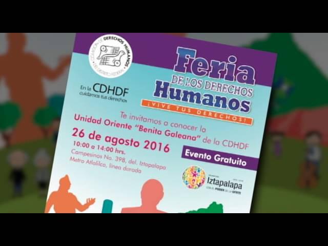 Feria de Derechos Humanos Unidad Oriente