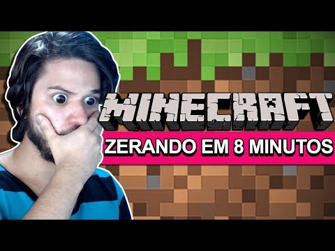 ZERANDO MINECRAFT EM SÓ 8 MINUTOS SEM CHEATS! IMPOSSÍVEL!!! thumbnail