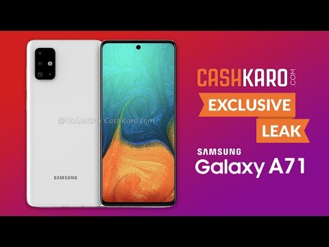 Samsung Galaxy A71 First Look: CashKaro Exclusive Leak Of Samsung Galaxy A71 With All Specification