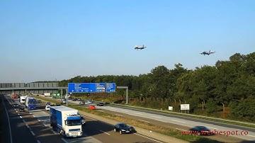 Frankfurter Flughafen - Sensationeller Landeanflug von 6 Flugzeugen