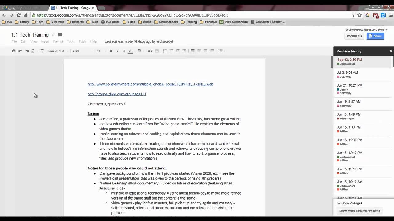 how to search google doc history