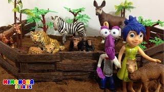 Alegria y sus amigos de Intensamente visitan el ZOO🐯 | Mimonona Stories