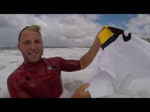 SURFING BLOW UP TOYS ON A HEAVY SHOREBREAK!!