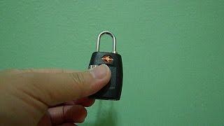 Repeat youtube video How to reset combination of TSA padlock