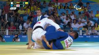 Judo | LITHUANIA vs JAPAN | Men's -66kg Bronze Medal Contest B | Rio 2016 Paralympic Games