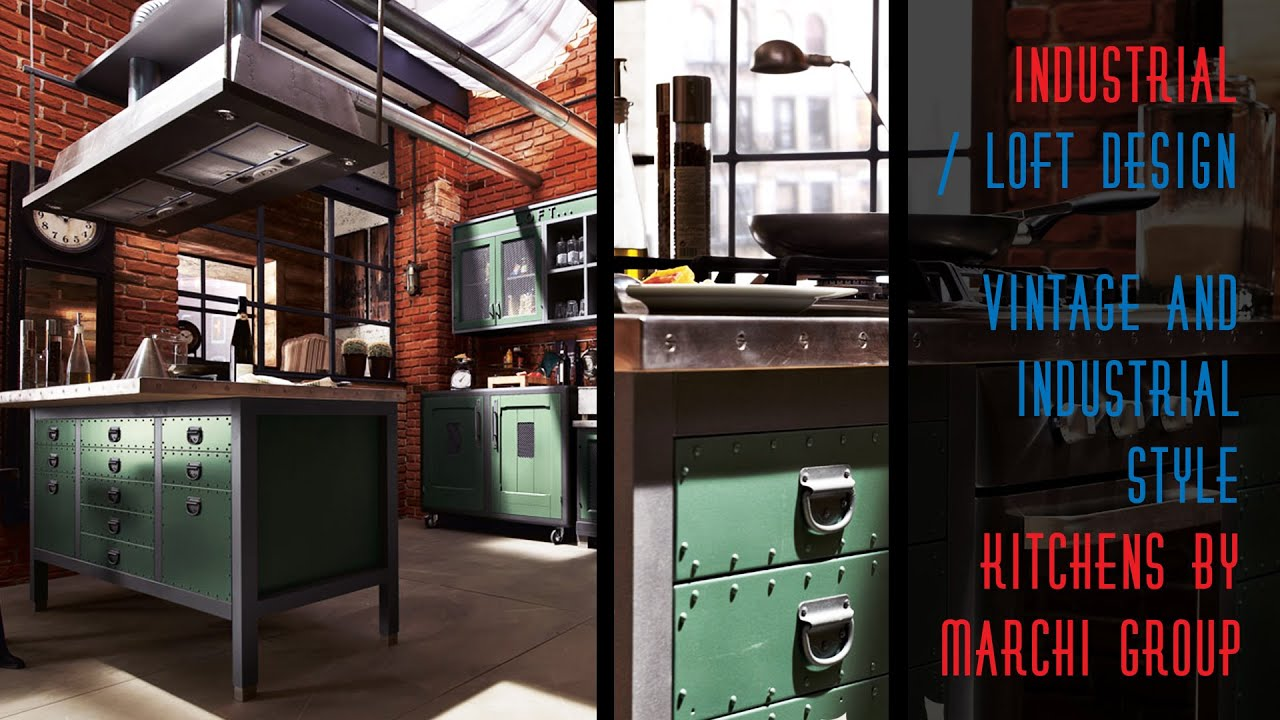 Vintage Industrial Style Vintage And Industrial Style Kitchens By Marchi Group