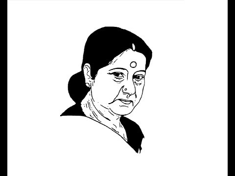 how-to-draw-sushma-swaraj-face-pencil-drawing-step-by-step