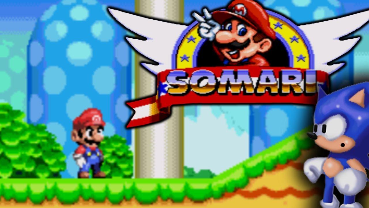 SOMARI - PLAYING AS SUPER MARIO IN AN AMAZING SONIC THE HEDGEHOG ROM HACK!  [BOOTLEG]