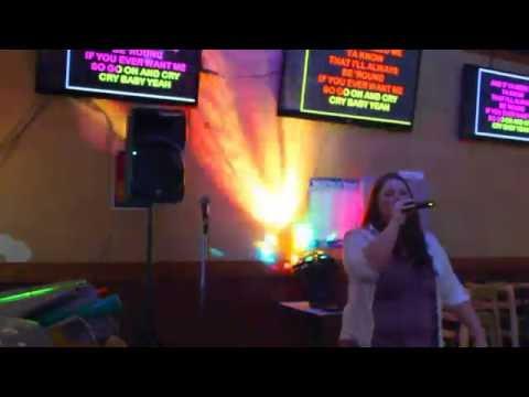 Karaoke Host Amber singing Cry Baby by Janis Joplin