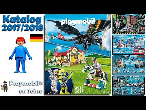 playmobil catalogue 2017 2018 allemand ao t 2017 janvier 2018 youtube. Black Bedroom Furniture Sets. Home Design Ideas