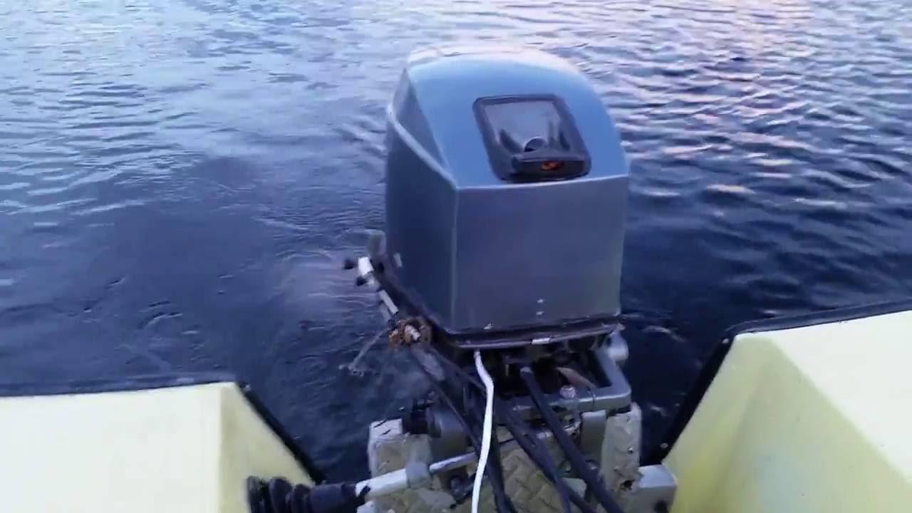 Mariner 30 HP Outboard 2-stroke on Sunwin 14 foot boat - YouTube