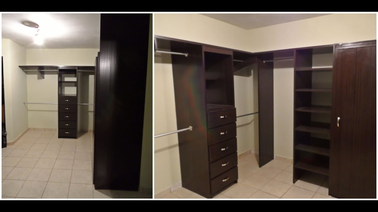 Closet de pvc para vestidor youtube for Walking closet modernos pequenos