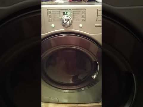 Reset Kenmore Front Load that won't power on
