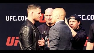 Georges St-Pierre and Michael Bisping Face Off for the First Time!