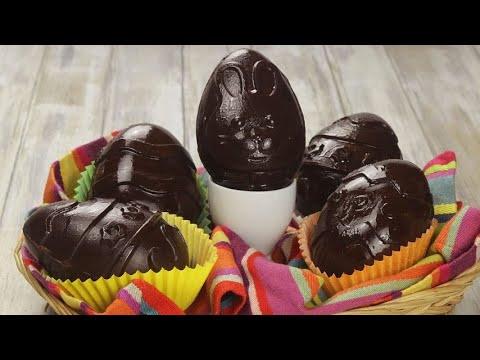 How to make beautiful homemade Chocolate Easter eggs