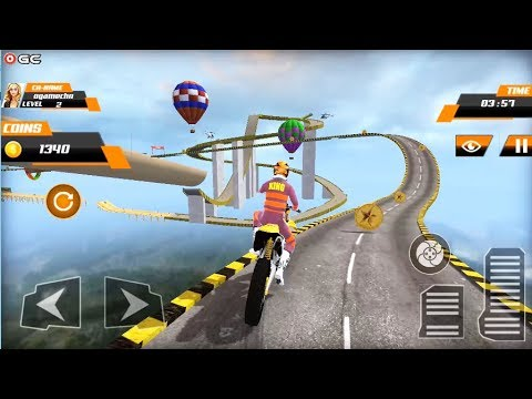 Real Stunt Bike Pro Tricks Master Racing Game 3D - Android Gameplay FHD