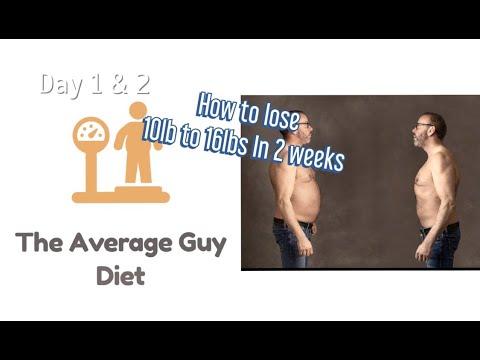 Average Guy Diet - Days 1 & 2, Rapid weight loss diet for men in 14 days