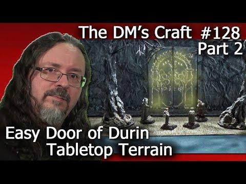 Finishing LotR Doors Of Durin Moria Terrain (DM's Craft 128/part2)