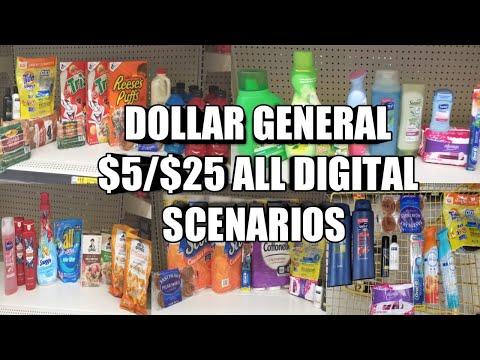 DOLLAR GENERAL $5/$25 ALL DIGITAL SCENARIOS