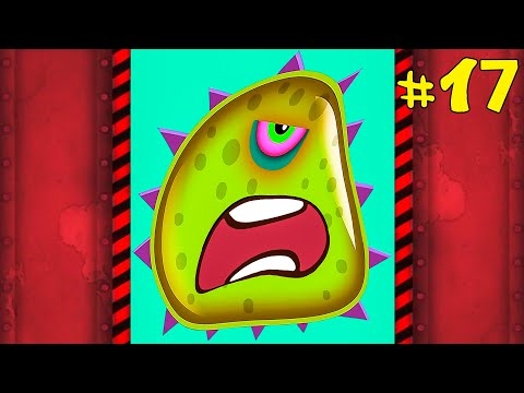 Лизун СЛИЗНЯК захватывает мир #17. Глазастик съел всех на ВОЕННОЙ БАЗЕ. Игра Mutant Blobs Attack