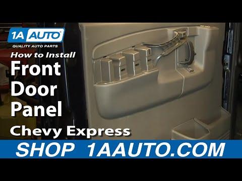 How To Remove Front Door Panel 95 19 Gmc Savana Youtube