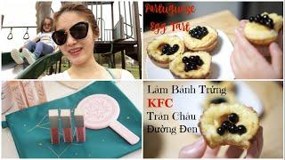 Cuối Tuần Làm Bánh Trứng KFC Trân Châu Đường Đen ♥ Ra Công Viên Chơi Cho Vịt Ăn