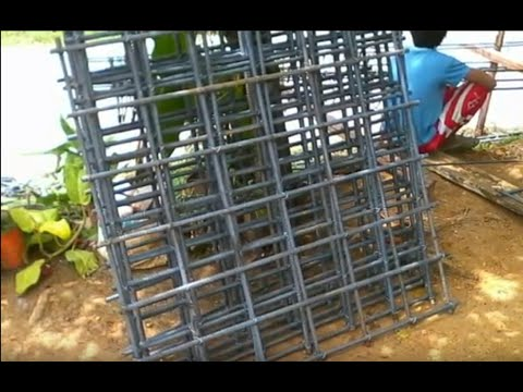 Building a house in Southern Leyte Philippines part 5 putting up the posts framework.